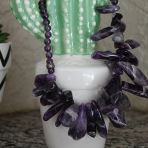 Jewelry - Amethyst and sterling sliver gemstone necklace